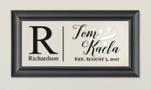 Personalized Family Glass Frame With Monogram