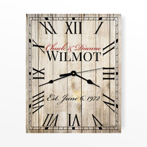 Personalized Rustic Rectangle Clock