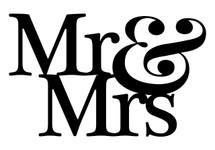 Mr & Mrs Word Art