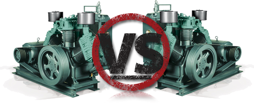 Head to head air compressor comparison