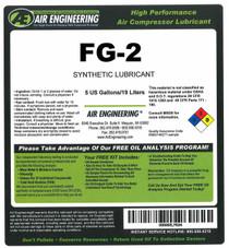 FG-2-5 - Compressor Lubricant - Food Grade (Kosher) - 5 GAL
