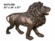 "83"" Bronze Lion - Right"