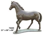 Life size Bronze Walking Horse - Final Sale
