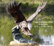 Eagle Catching a Fish - Winter Sale