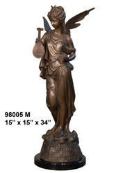 Greco-Roman Fairy with Marble Base - Winter Sale