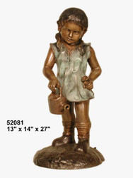 Girl with Watering Can (small) - Winter Sale