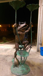 Giant Frog Fountain  - Winter Sale