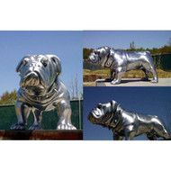 "Custom ""Dizzy Eyes"" bulldog in silver finish - Fall / Winter Clearance"
