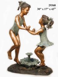 Girls Dancing Around Flower Fountain