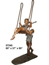 "Boy Pushing a Girl on a Swing - 89"" Design"