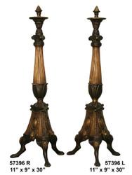 "Bronze Fireplace Andirons - 30"" Classic Design"
