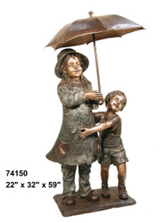 Girl & Boy Under Umbrella, Spillover Umbrella