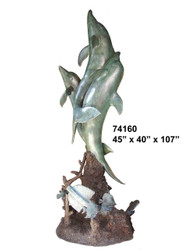 Large Dolphin Family Fountain