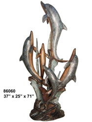 """Dolphin Family, Swimming Up - 71"""" Design"""