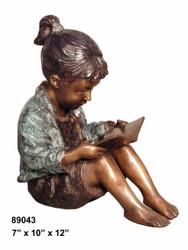 """Girl Reading a Book - 12"""" Design"""