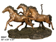 Table Base, Three Horses Running