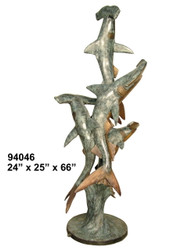 "Hammerhead Sharks - 66"" Design"