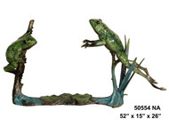 2 Frogs on a Branch - Special Patina, Style NA