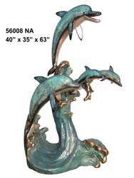 "Dolphin Family - 63"" Design - Special Patina, Style NA"