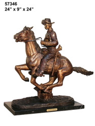 "Remington design, ""Trooper of the Plains"" - with Marble Base"
