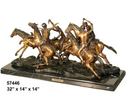 "Remington design, ""Warriors"" - with Marble Base"