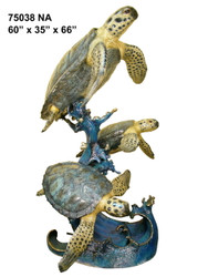 Swimming Sea Turtles- Special Patina, Style NA
