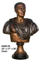 "Greco-Roman Bust - 40"" Design - with Marble Base"