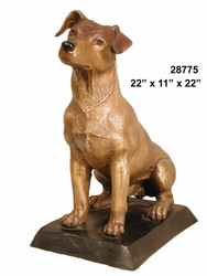Jack Russell Terrier - with Bronze Base