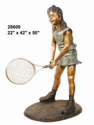 Junior Tennis Player, Waiting to Volley - Winter Sale