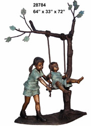 Kids Swinging from a Tree
