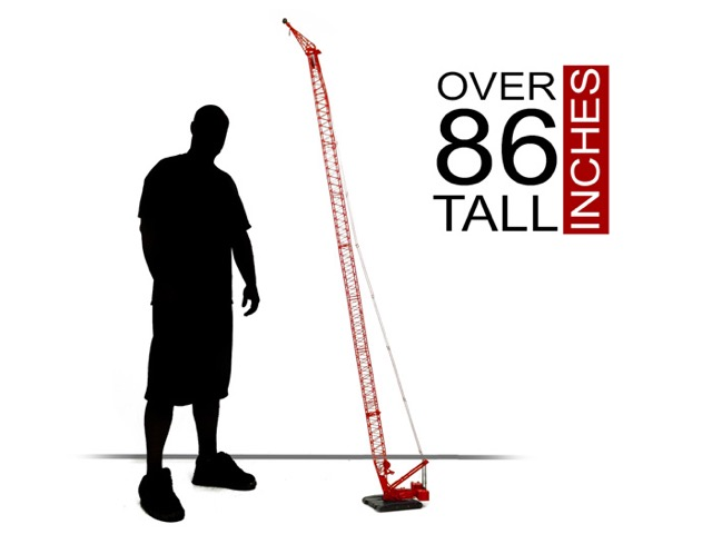 "Manitowoc 16000 measures over 86"" tall"
