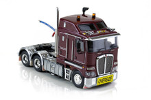 1:50 diecast scale model of Kenworth K200 - Vintage Burgundy