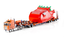 1:50 diecast scale model of Kenworth K200 with Drake 2x8 Dolly and Drake 4x8 Bucket Trailer-Drake