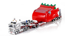 1:50 diecast scale model of Kenworth K200 with Drake 2x8 Dolly and Drake 4x8 Bucket Trailer-NQ Group