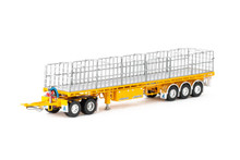 1:50 diecast scale model of MaxiTRANS Freighter Road Train Set - Yellow