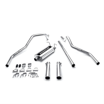 Exhaust System, Cat-Back, Stainless Steel, Polished Stainless Tips, Ford, Pickup, 4.6, 5.4L, Kit