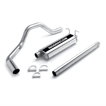 Exhaust System, Cat-Back, Stainless Steel, Polished Stainless Tip, Ford, Pickup, 4.6, 5.4L, Kit