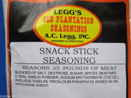 SNACK STICK SEASONING for 25 Lbs Beef Elk Deer Sausage Slim Jims or Pepperoni
