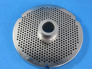 "#52 stainless steel plate with hub.  1/8"" fine grind holes"