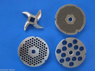 #32 4-pc COMBO SET Meat Grinder Plates & Knife Cutter for Hobart Chop Rite LEM etc