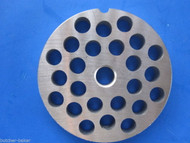 "#22 x 3/8"" holes STAINLESS Meat Food Grinder Plate Disc Hobart TorRey LEM etc"