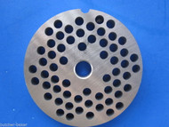 "#22 x 1/4"" holes STAINLESS Meat Food Grinder Plate Disc Hobart TorRey LEM etc"