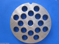 "#22 x 1/2"" holes STAINLESS Meat Food Grinder Plate Disc Hobart TorRey LEM etc"