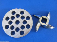 "#12 x 3/8"" PLATE & SWIRL KNIFE S/S Meat Grinder Grinding SET"