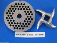 "#12 x 3/16"" PLATE & SWIRL KNIFE S/S Meat Grinder Grinding SET"