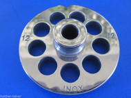 "#12 x 1/2"" w/ HUB STAINLESS Meat Grinder Mincer plate disc screen"