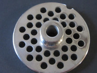 "#12 plate with HUB.  1/4"" large burger grind.  Stainless Steel"