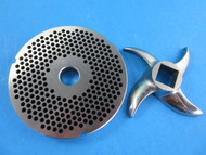 "#42 with fine 1/8"" grinder holes.  Plus a new sharp stainless steel meat grinder knife"