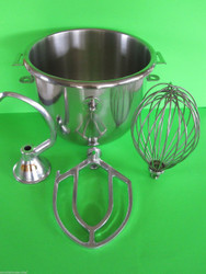 EVERYTHING for the Hobart c100 10 Quart Bakery Mixer Dough Hook Wire Whip & Beater
