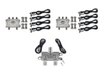 Pixel Technologies SiriusXM Amplified 8-Way Splitter Kit SR-8